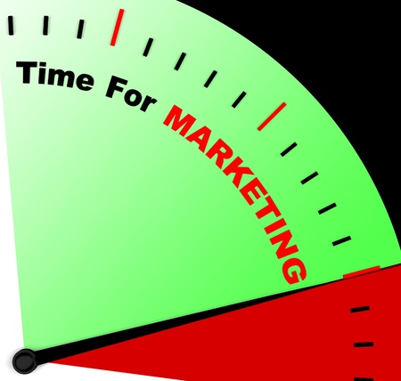 represents: Time For Marketing Message Represents Advertising And Sales