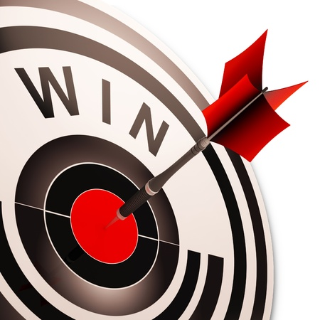 successes: Win Target Showing Successes Winner, Progress And Victory
