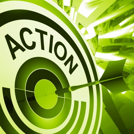 proactive: Action Meaning Proactive To Motivating Fitness Exercise Stock Photo