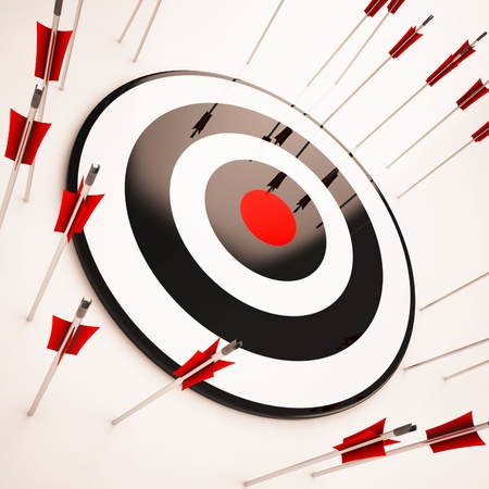 Off Target Showing Aiming Mistake Lacking Confidence