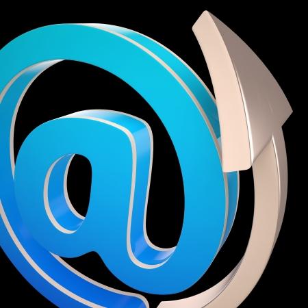worldwideweb: At-Symbol Showing Electronic Mail Correspondence Through Web