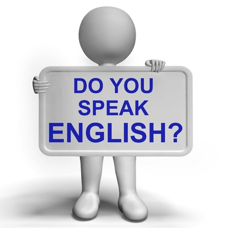 Parli inglese segno indica l'apprendimento delle lingue