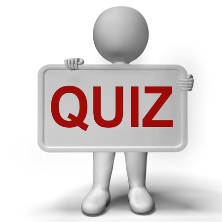 Quiz Sign Means Test Exam Or Examination photo