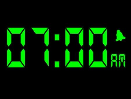 seven o'clock: Early Morning Alarm Call At Seven Oclock AM