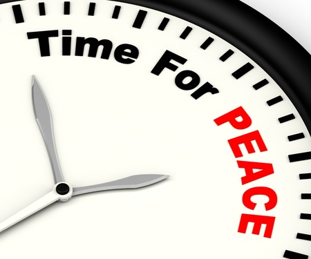 anti war: Time For Peace Message Shows Anti War And Peaceful