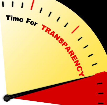 fairness: Time For Transparency Message Meaning Ethics And Fairness Stock Photo