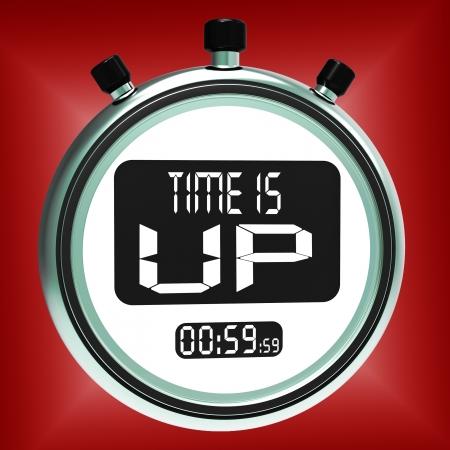 osiągnął: Time Is Up Wiadomość Wyświetlono Termin Wykorzystany Zdjęcie Seryjne