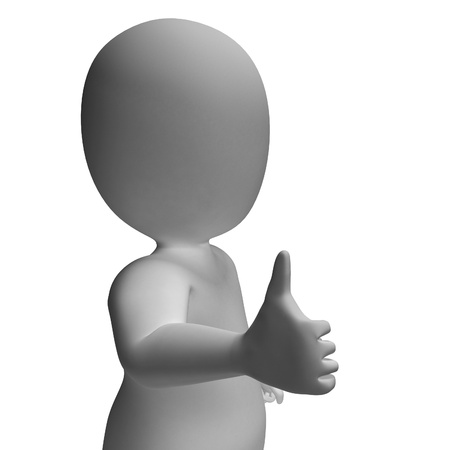 Thumbs Up Shows Support Approval And Confirmation Stock Photo - 20571206