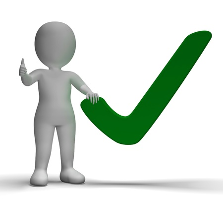 Tick Or Check Sign Shows Approval Or Checked Stock Photo - 20571282