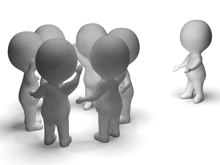 excluded: Excluded From Group 3d Character Showing Bullying