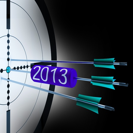 future growth: 2013 Target Showing Successful Future Growth And Goals