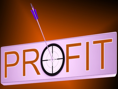lucrative: Profit Showing Financial Investment Success And Growth
