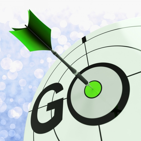 to proceed: Go Meaning To Start Action To Proceed Forward