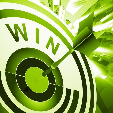 successes: Win target Successi Significato Winner, Progresso e la vittoria Archivio Fotografico