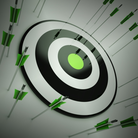 lack of confidence: Off Target Showing To Miscalculate Skill And Lacking Improvement Stock Photo