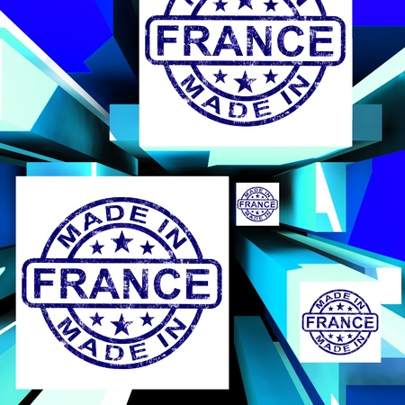 Made In France On Cubes Showing French Factories And Products photo