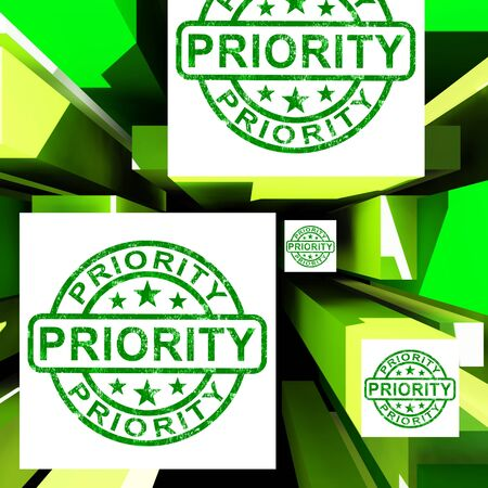 Priority On Cubes Shows Urgent Dispatch Or Deadline photo