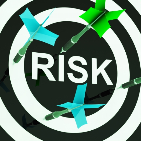 unsafe: Risk On Dartboard Shows Unsafe Or Unsteady