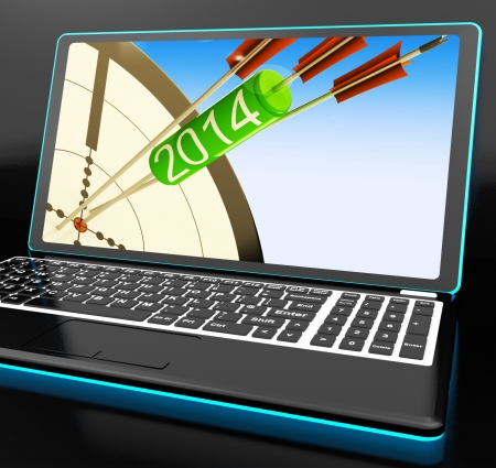 festivities: 2014 Arrows On Laptop Showing Festivities And Celebrations