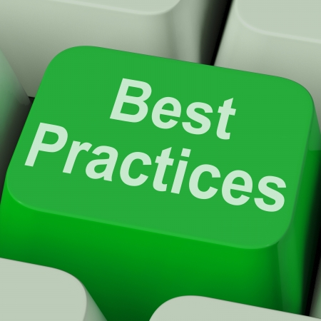 Best Practices Key Showing Improving Business Quality