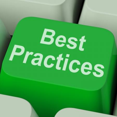 oefenen: Best Practices Key Toont het verbeteren van bedrijfsprocessen Kwaliteit