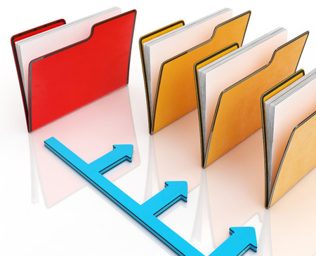 correspondencia: Carpetas o archivos muestran correspondencia y organizada