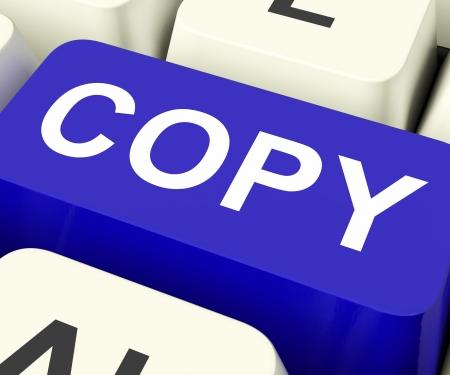 Copy Keys Meaning Duplication Replication Or Copying  Banco de Imagens