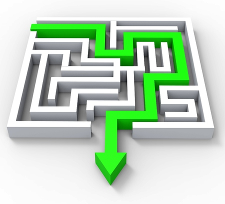 break out: Break Out Of Maze Showing Puzzle Guidance