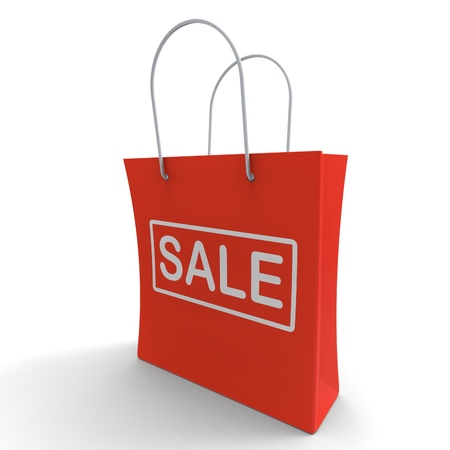 markdown: Sale Bag Shows Discount Or Markdown Price