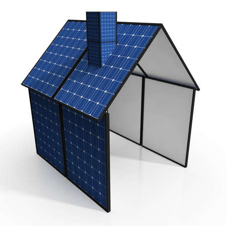 solarpanel: Solar Panel House Shows Renewable Energy Or Power