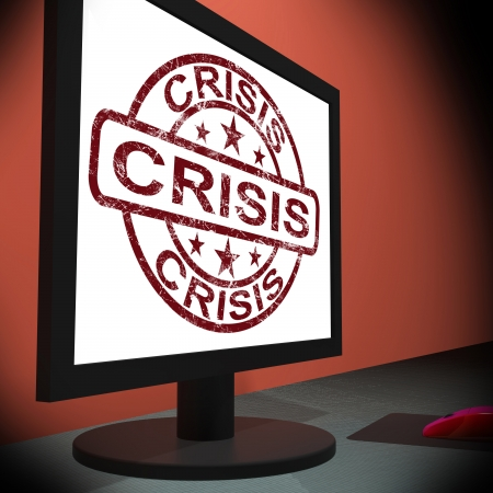 predicament: Crisis Monitor Meaning Urgency Trouble Or Critical Situation