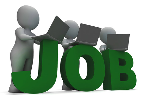 Job Online Showing Web Employment Search For Vacancy photo