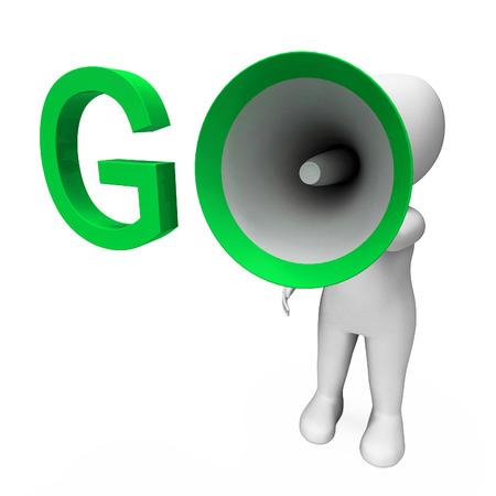 Go Hailer Showing Start Motivate Or Inspire Stock Photo