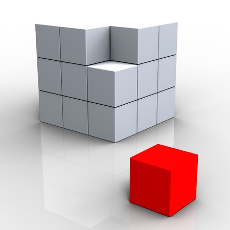 distinctness: Different Block Shows Standing Out And Apart