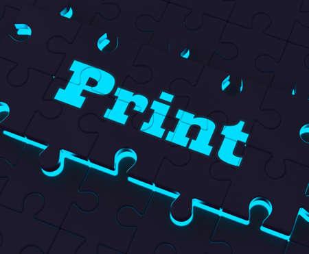 copying: Print Key Showing Printer Printing Copying Or Printout