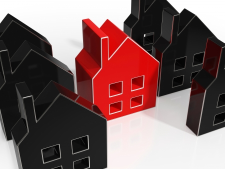 House Icons Show Home Or Building For Sale Stock Photo - 22640648