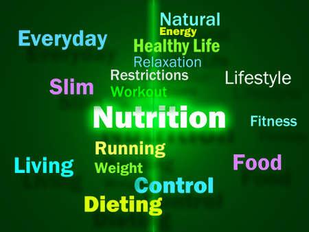nutrientes: Palabras Nutrici�n Mostrando Alimentos Saludables Vitaminas Nutrientes y nutricionales