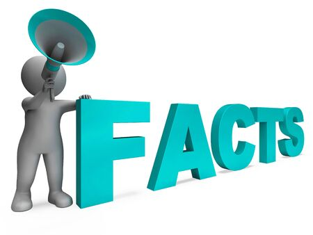 Facts Character Showing Details Information And Knowledge Stock Photo