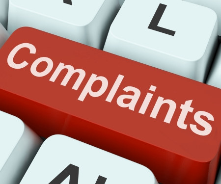 Complaints Key Showing Complaining Or Moaning Online