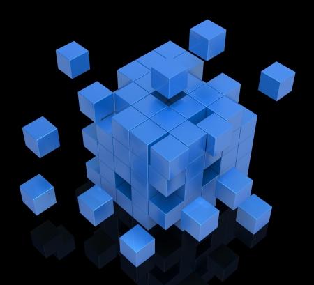 disharmony: Exploding Blocks Shows Unorganized Puzzle And Explosion