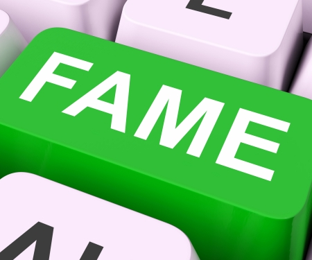 renowned: Fame Keys Meaning Famous Popular Or Renowned  Stock Photo
