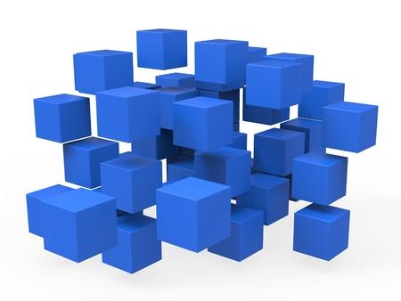 disharmony: Exploded Blocks Shows Unorganized Puzzle And Explosion
