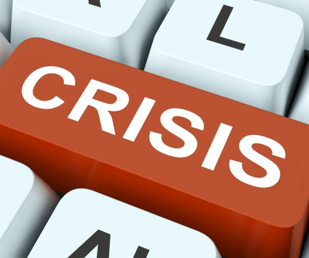 predicament: Crisis Key On Keyboard Meaning Exigency Trouble Or Calamity
