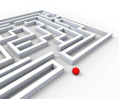 Komplizierte Maze Zeigt Komplexität Hindernisse und Herausforderungen
