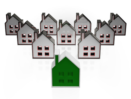House Symbols Meaning Real Estate Or Buildings For Sale Stock Photo - 22640691