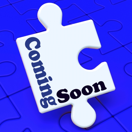 new arrival: Coming Soon Puzzle Showing New Arrival Or Promotion Product