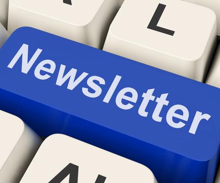Nieuwsbrief Key Resultaat News Letter Of Online Correspondentie Stockfoto