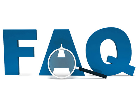 Faq Word Showing Faqs Advice Or Frequently Asked Questions Standard-Bild