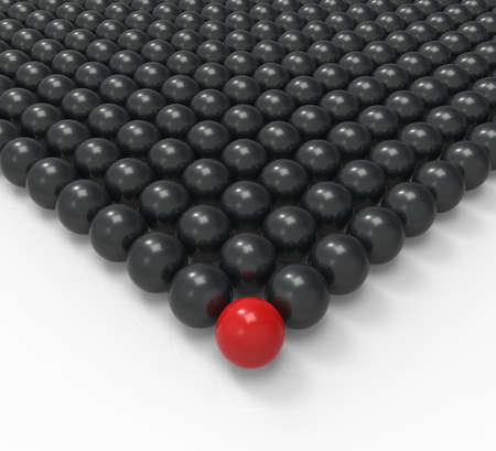 accomplishing: Leading Metallic Ball Showing Leadership Mission Or Acheiving