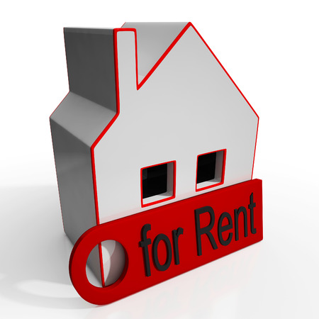 for rent sign: Home For Rent Sign Showing Housing Rental
